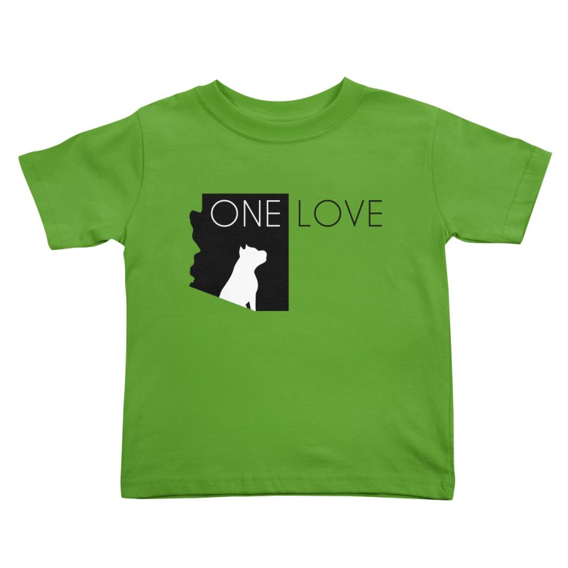 ONE LOVE Kids Toddler T-Shirt by One Love Pit Bull Foundation