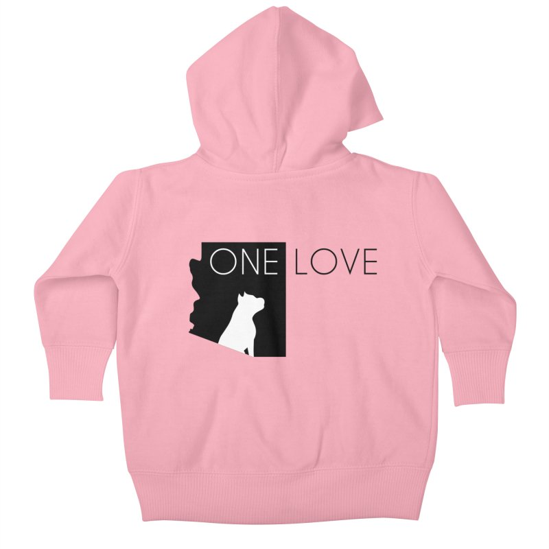 ONE LOVE Kids Baby Zip-Up Hoody by One Love Pit Bull Foundation