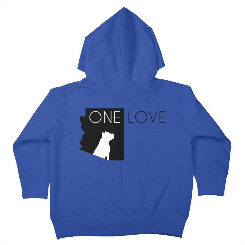 ONE LOVE Kids Toddler Zip-Up Hoody by One Love Pit Bull Foundation