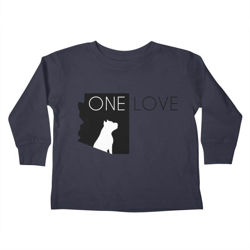 ONE LOVE Kids Toddler Longsleeve T-Shirt by One Love Pit Bull Foundation