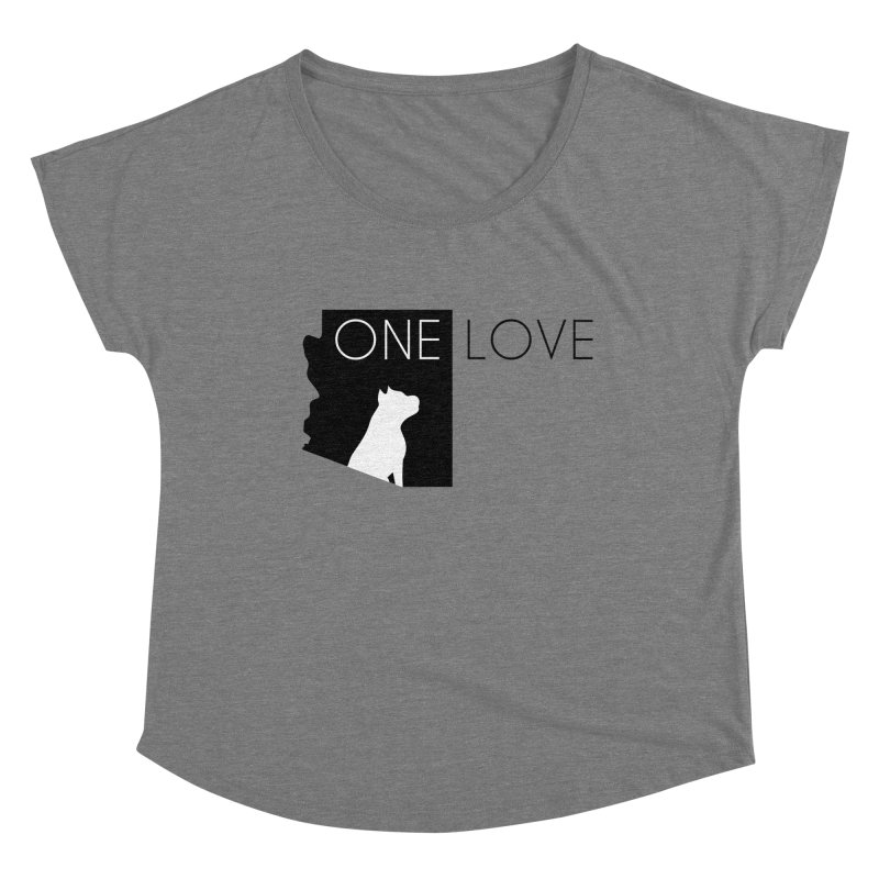ONE LOVE Women's Scoop Neck by One Love Pit Bull Foundation
