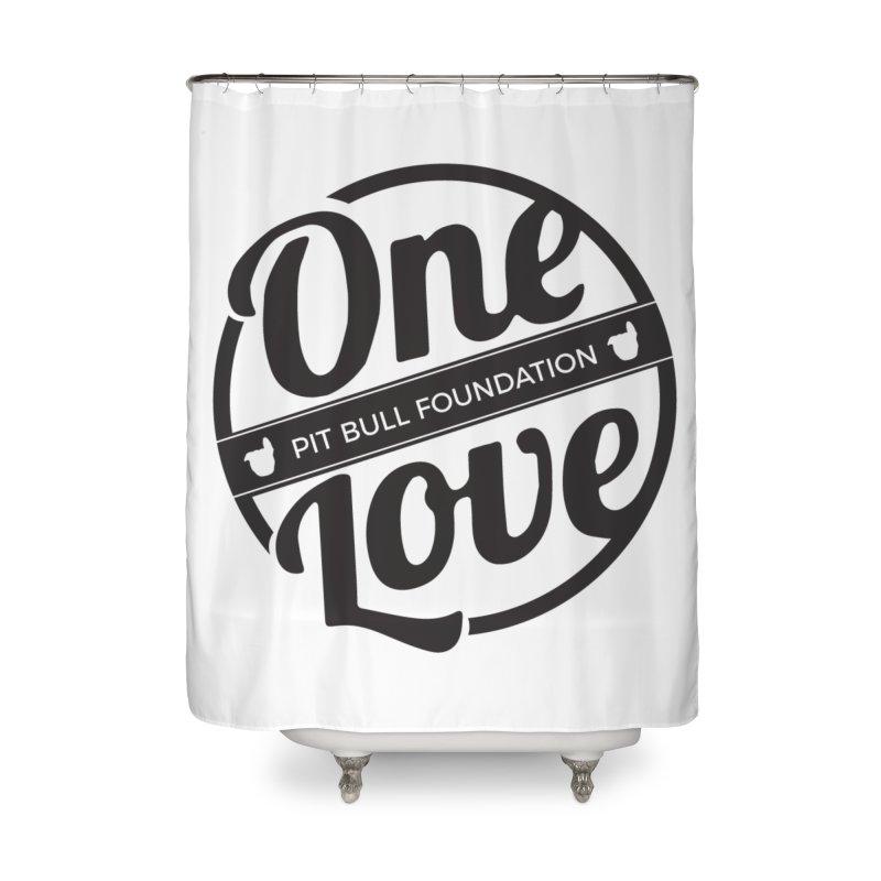 One Love Pit Bull Foundation Official Logo Black Home Shower Curtain by One Love Pit Bull Foundation