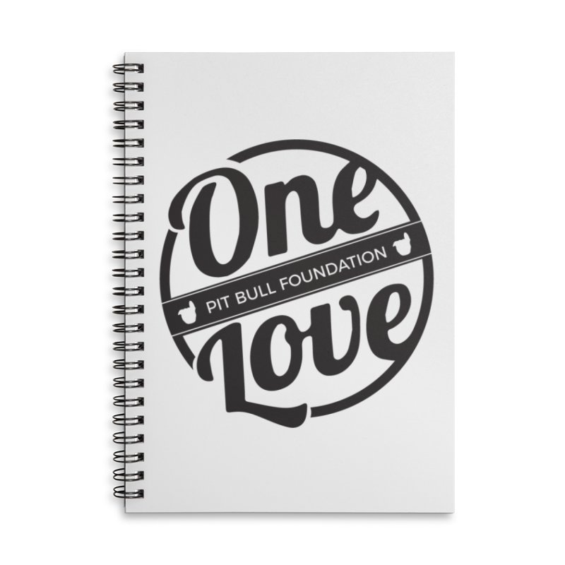 One Love Pit Bull Foundation Official Logo Black Accessories Notebook by One Love Pit Bull Foundation