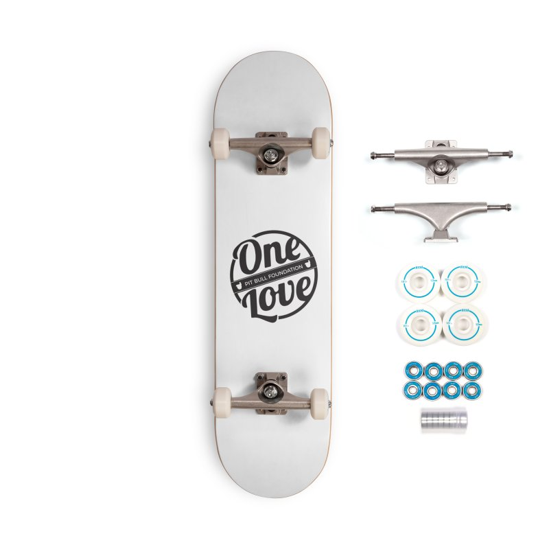 One Love Pit Bull Foundation Official Logo Black Accessories Skateboard by One Love Pit Bull Foundation