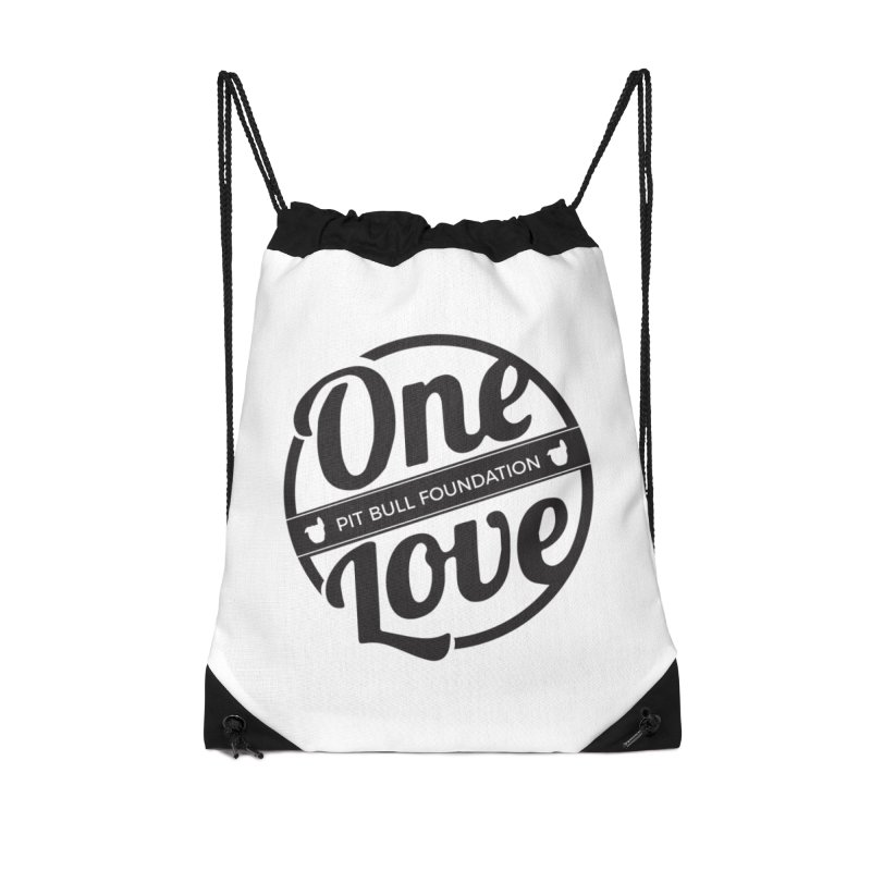 One Love Pit Bull Foundation Official Logo Black Accessories Bag by One Love Pit Bull Foundation