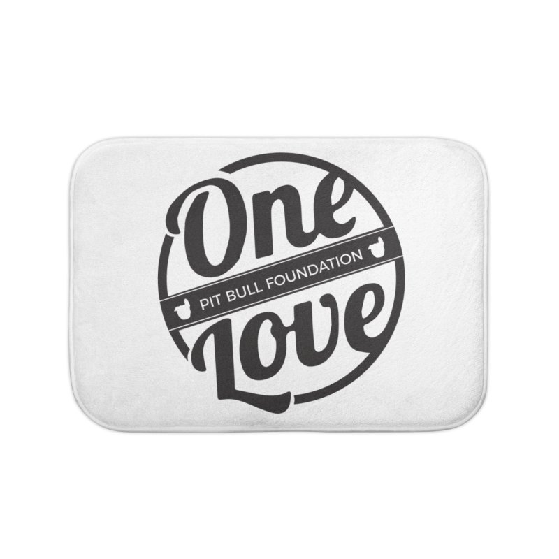 One Love Pit Bull Foundation Official Logo Black Home Bath Mat by One Love Pit Bull Foundation