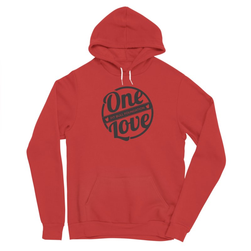 One Love Pit Bull Foundation Official Logo Black Women's Pullover Hoody by One Love Pit Bull Foundation
