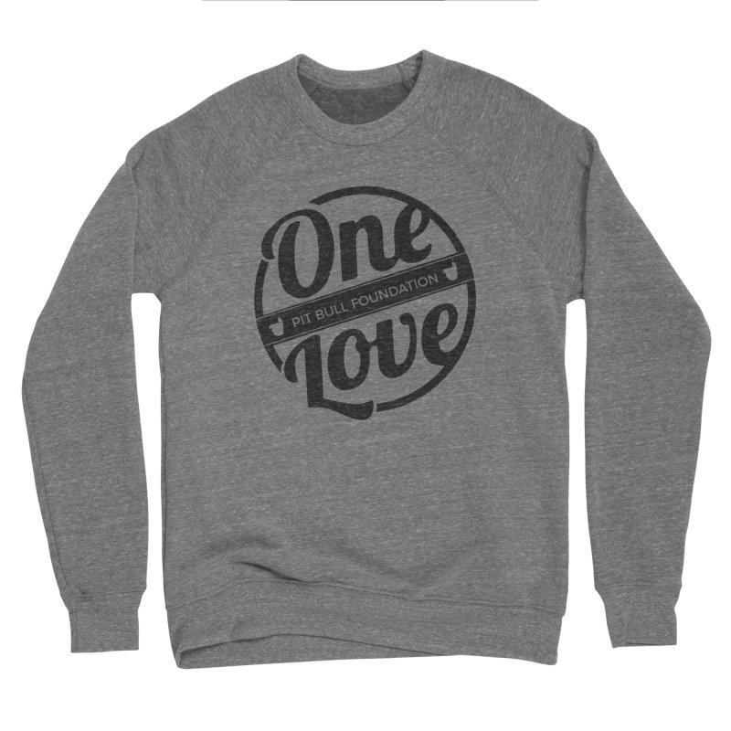 One Love Pit Bull Foundation Official Logo Black Men's Sweatshirt by One Love Pit Bull Foundation
