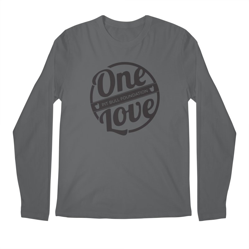 One Love Pit Bull Foundation Official Logo Black Men's Longsleeve T-Shirt by One Love Pit Bull Foundation