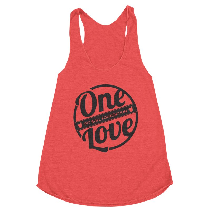 One Love Pit Bull Foundation Official Logo Black Women's Tank by One Love Pit Bull Foundation