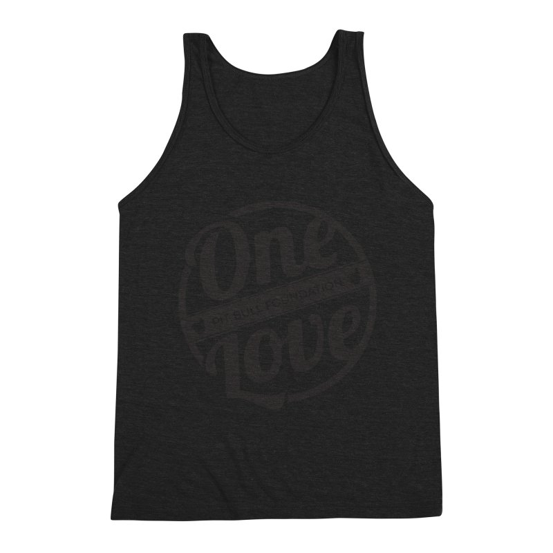 One Love Pit Bull Foundation Official Logo Black Men's Tank by One Love Pit Bull Foundation