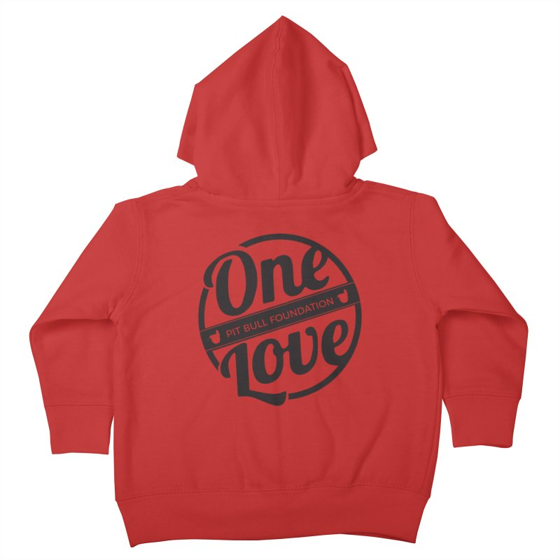 One Love Pit Bull Foundation Official Logo Black Kids Toddler Zip-Up Hoody by One Love Pit Bull Foundation