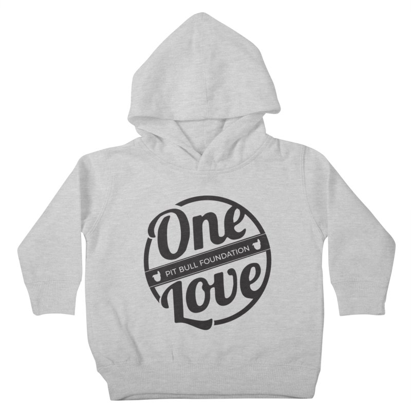 One Love Pit Bull Foundation Official Logo Black Kids Toddler Pullover Hoody by One Love Pit Bull Foundation