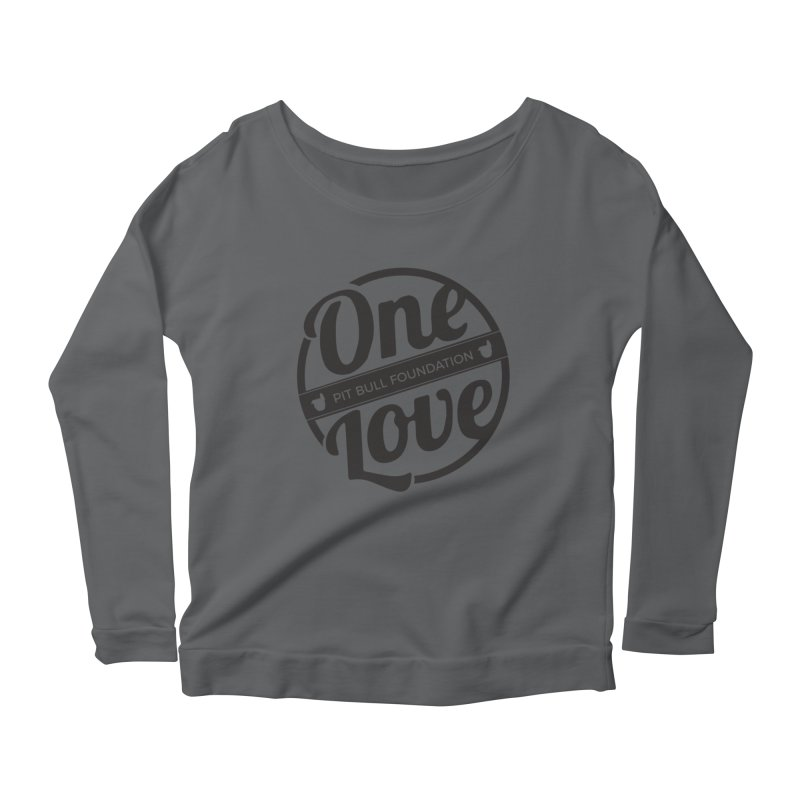 One Love Pit Bull Foundation Official Logo Black Women's Longsleeve T-Shirt by One Love Pit Bull Foundation