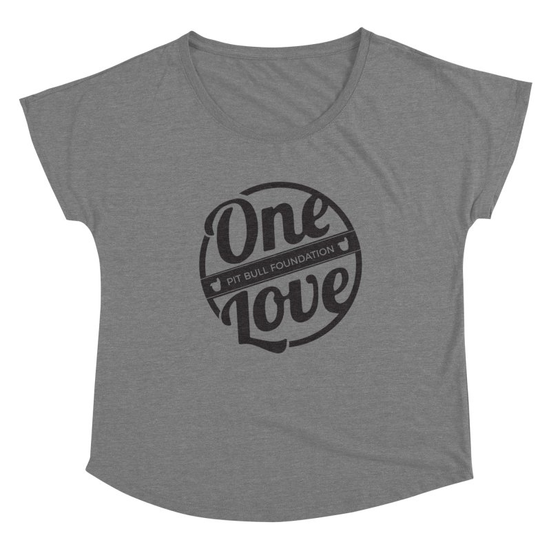 One Love Pit Bull Foundation Official Logo Black Women's Scoop Neck by One Love Pit Bull Foundation