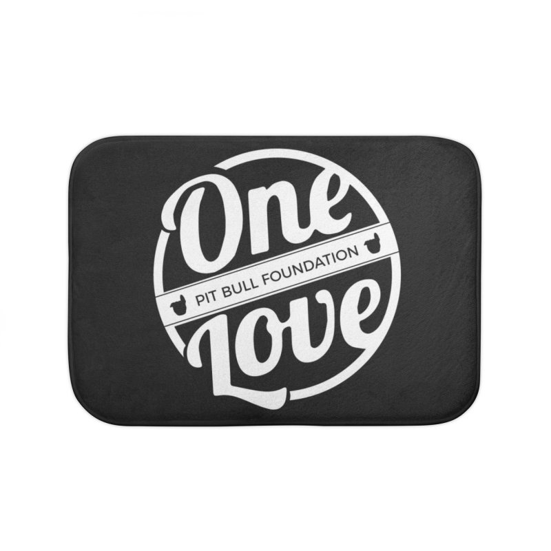 One Love Pit Bull Foundation Official Logo WHITE Home Bath Mat by One Love Pit Bull Foundation
