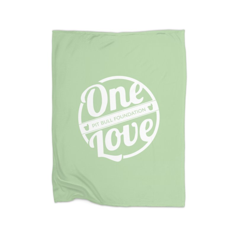 One Love Pit Bull Foundation Official Logo WHITE Home Blanket by One Love Pit Bull Foundation