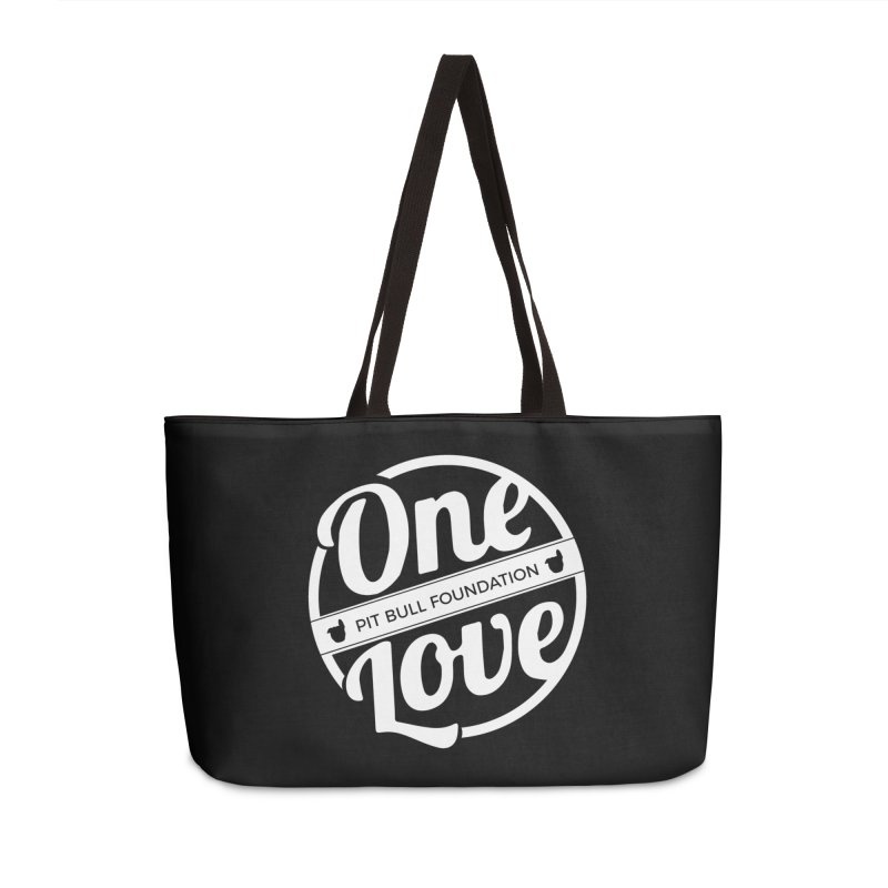 One Love Pit Bull Foundation Official Logo WHITE Accessories Bag by One Love Pit Bull Foundation