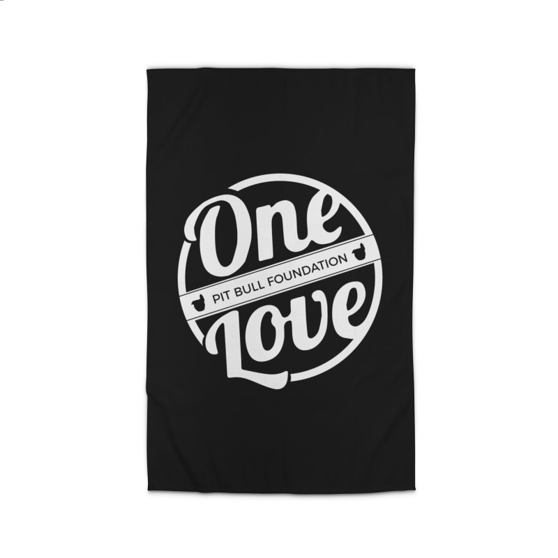 One Love Pit Bull Foundation Official Logo WHITE Home Rug by One Love Pit Bull Foundation