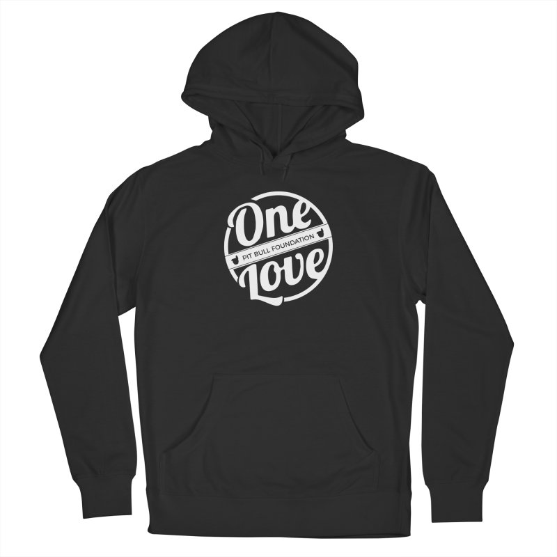 One Love Pit Bull Foundation Official Logo WHITE Women's Pullover Hoody by One Love Pit Bull Foundation