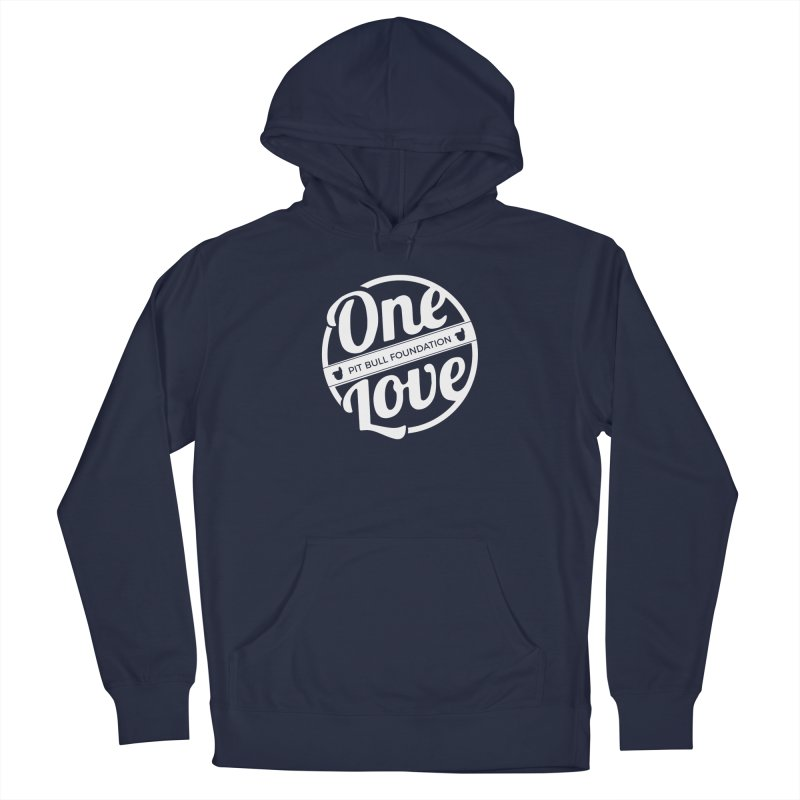 One Love Pit Bull Foundation Official Logo WHITE Men's Pullover Hoody by One Love Pit Bull Foundation