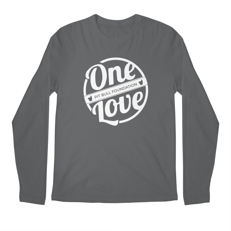 One Love Pit Bull Foundation Official Logo WHITE Men's Longsleeve T-Shirt by One Love Pit Bull Foundation