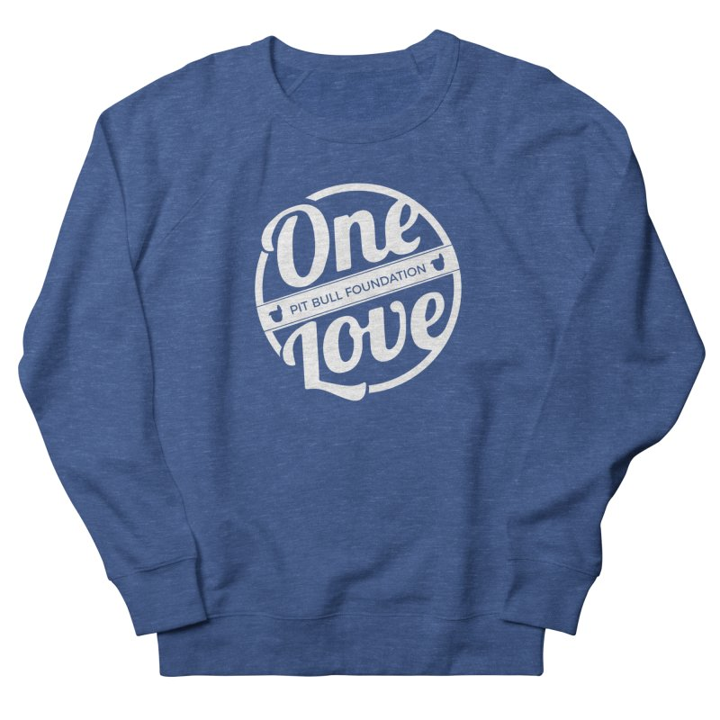 One Love Pit Bull Foundation Official Logo WHITE Men's Sweatshirt by One Love Pit Bull Foundation