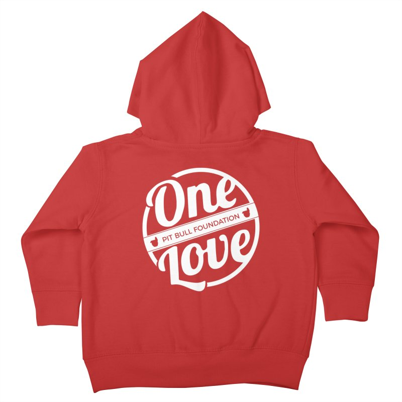 One Love Pit Bull Foundation Official Logo WHITE Kids Toddler Zip-Up Hoody by One Love Pit Bull Foundation