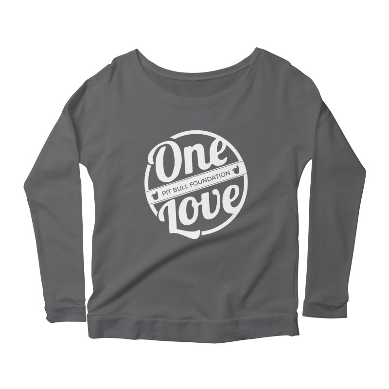 One Love Pit Bull Foundation Official Logo WHITE Women's Longsleeve T-Shirt by One Love Pit Bull Foundation