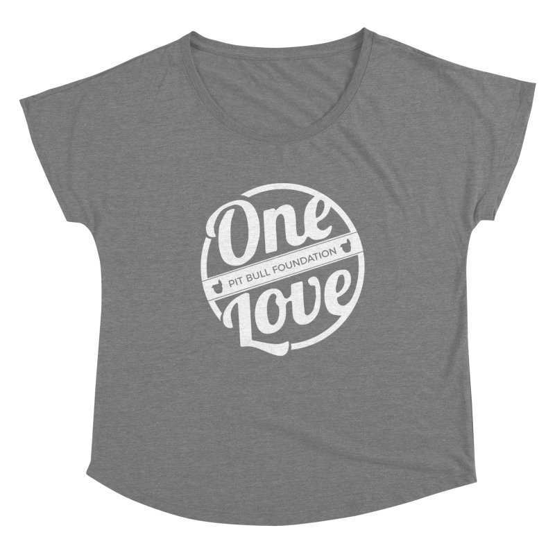 One Love Pit Bull Foundation Official Logo WHITE Women's Scoop Neck by One Love Pit Bull Foundation