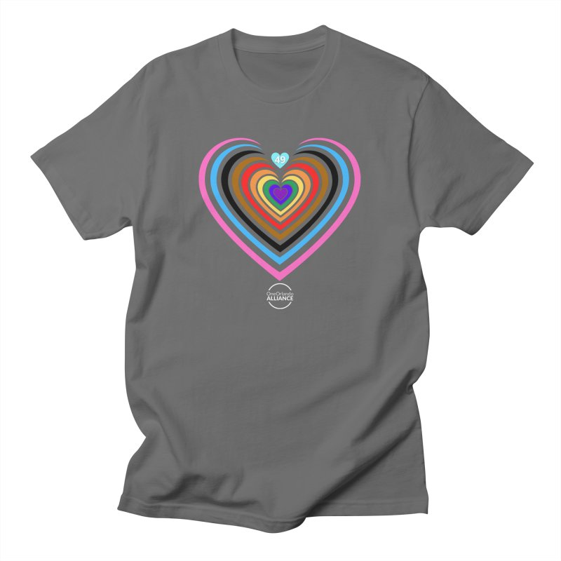 Mural Heart (with White Logo) Masc Style Clothing T-Shirt by oneorlandoalliance's Artist Shop