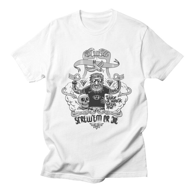 screw'em or die Men's Regular T-Shirt by onepercenter's Artist Shop