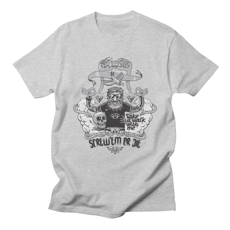 screw'em or die Men's Regular T-Shirt by onepercenter's Artist Shop