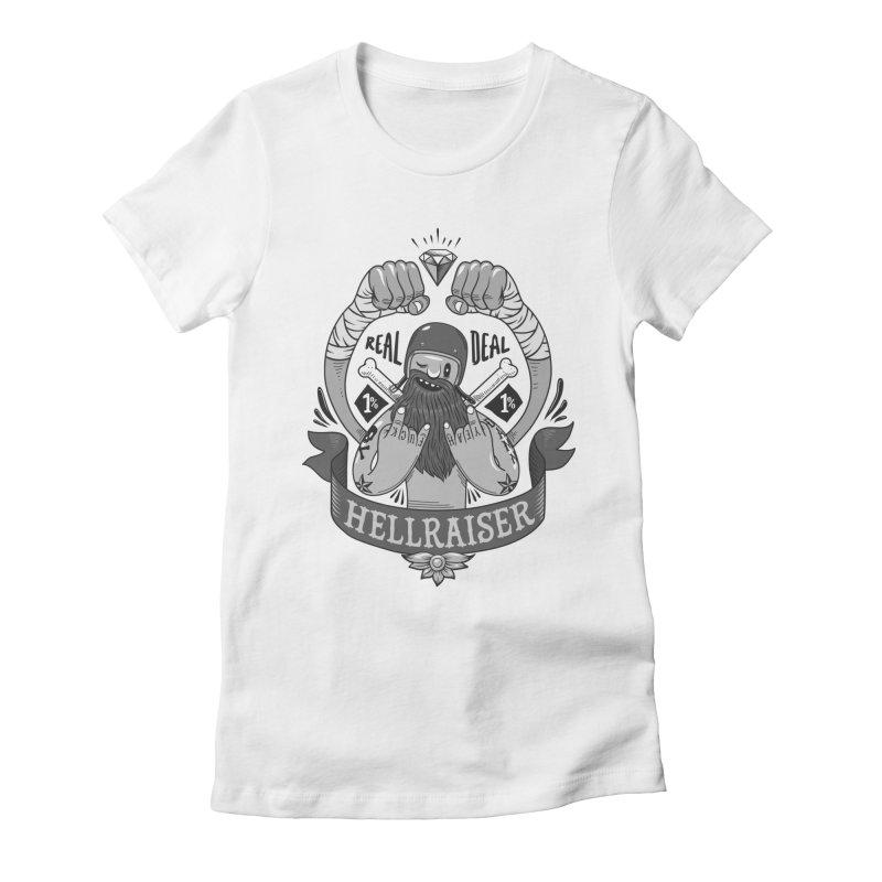 hellraiser Women's Fitted T-Shirt by onepercenter's Artist Shop