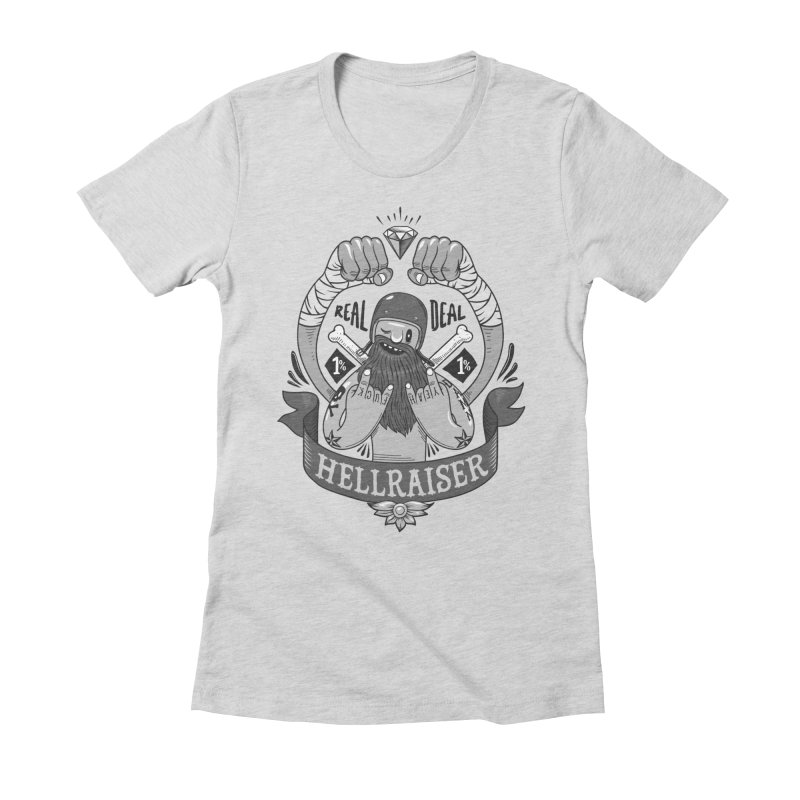 hellraiser Women's Fitted T-Shirt by onepercenter's Artist Shop