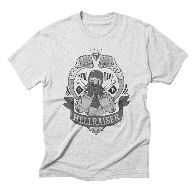 hellraiser in Men's Triblend T-Shirt Heather White by onepercenter's Artist Shop