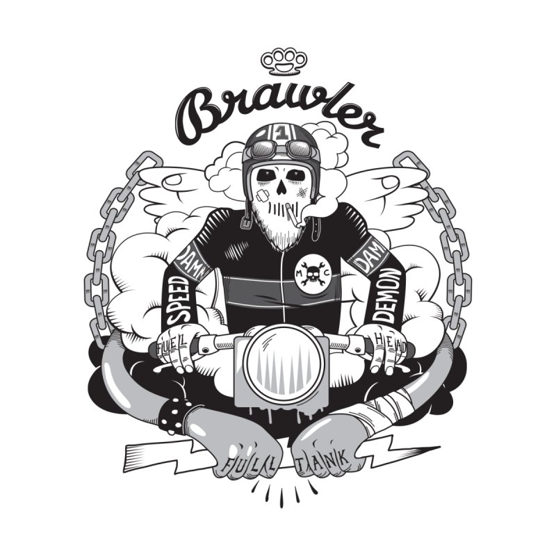 brawler Men's T-Shirt by onepercenter's Artist Shop