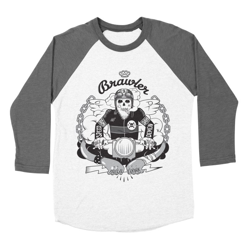 brawler Women's Baseball Triblend Longsleeve T-Shirt by onepercenter's Artist Shop