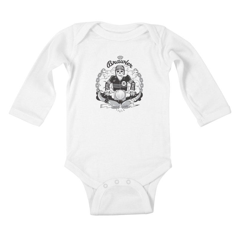 brawler Kids Baby Longsleeve Bodysuit by onepercenter's Artist Shop