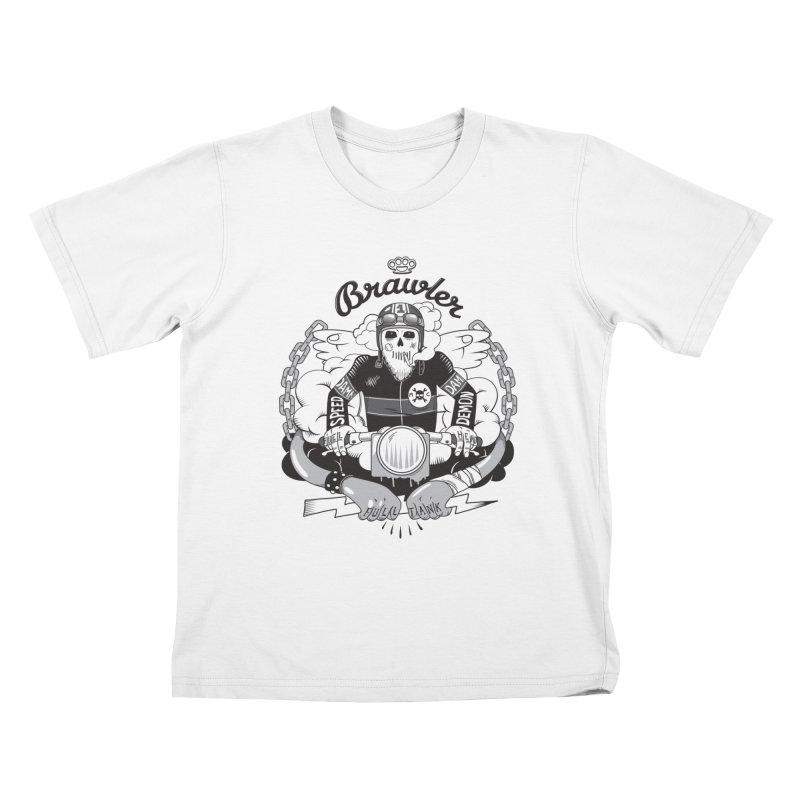 brawler Kids T-Shirt by onepercenter's Artist Shop