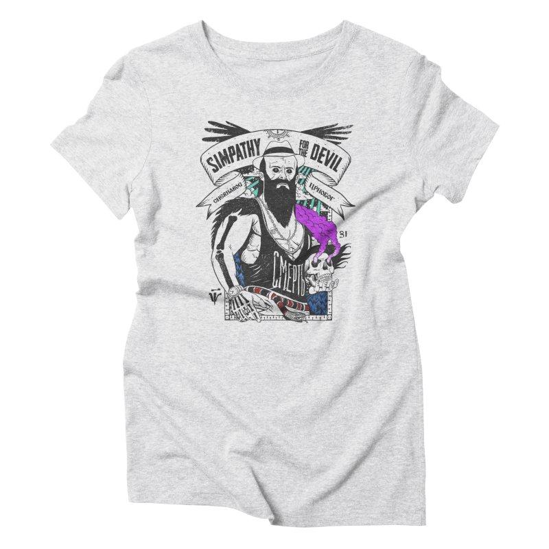 crnobog Women's Triblend T-Shirt by onepercenter's Artist Shop