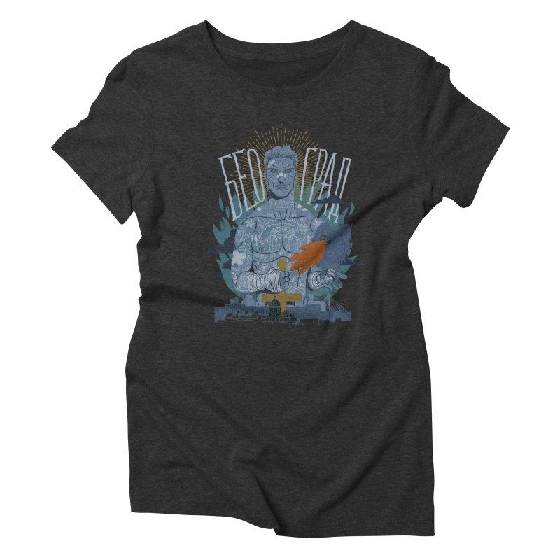 victor Women's Triblend T-Shirt by onepercenter's Artist Shop
