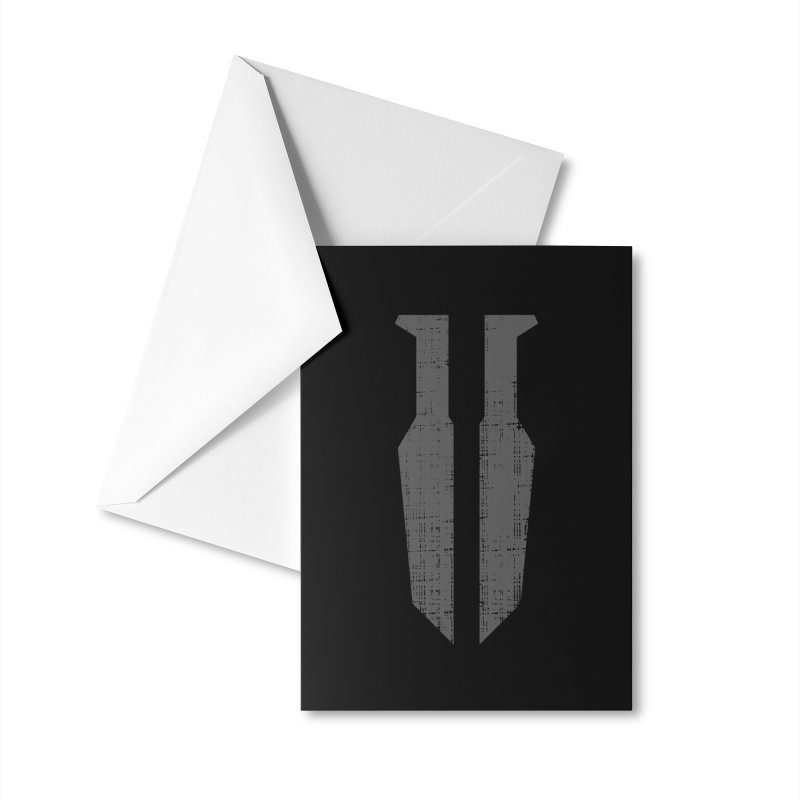 Blades in the Dark Logo (Gray) GEAR Greeting Card by One Seven Design