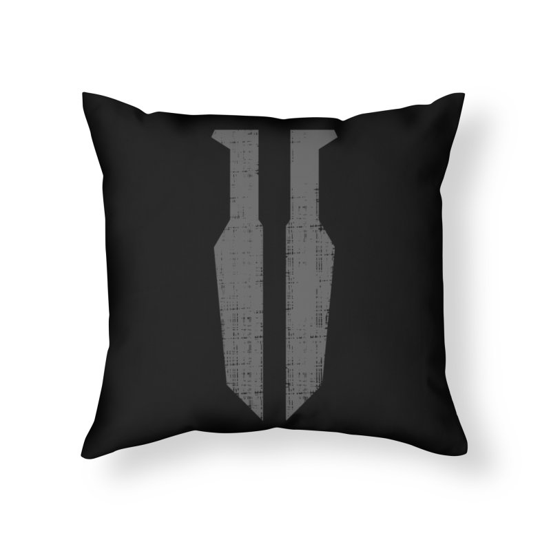 Blades in the Dark Logo (Gray) LAIR Throw Pillow by One Seven Design