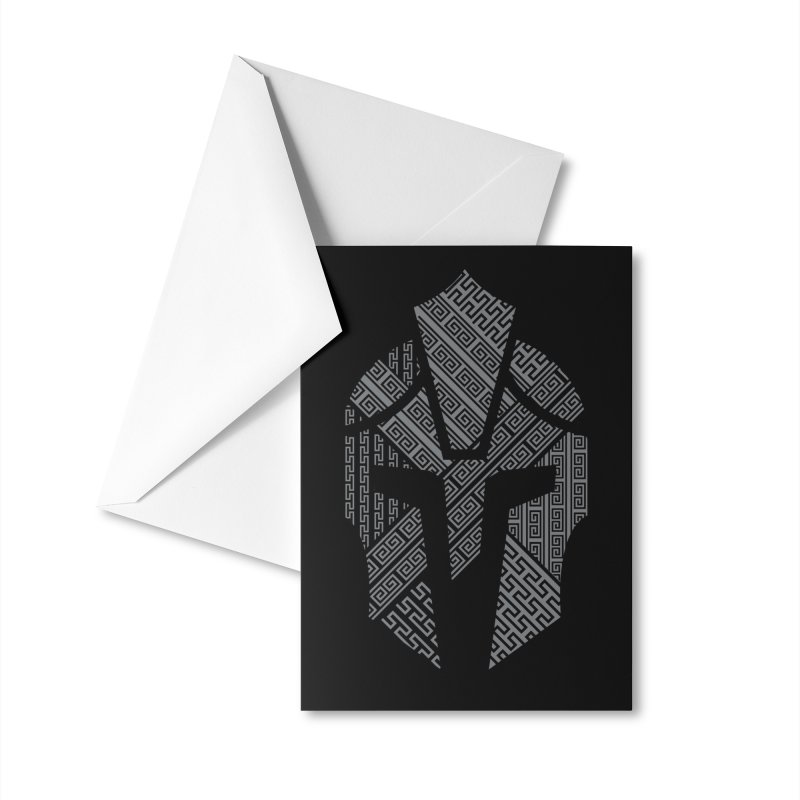 AGON Helmet Logo (Gray) GEAR Greeting Card by One Seven Design