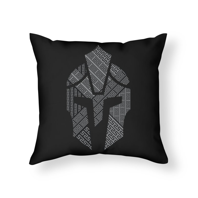 AGON Helmet Logo (Gray) LAIR Throw Pillow by One Seven Design