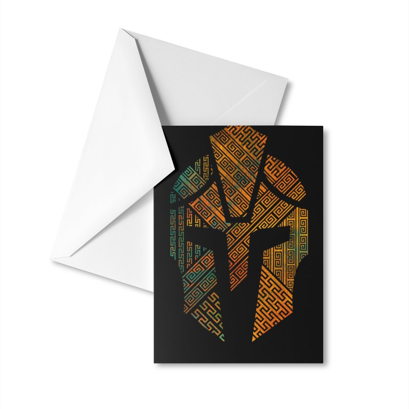 AGON Helmet Logo (Color) GEAR Greeting Card by One Seven Design