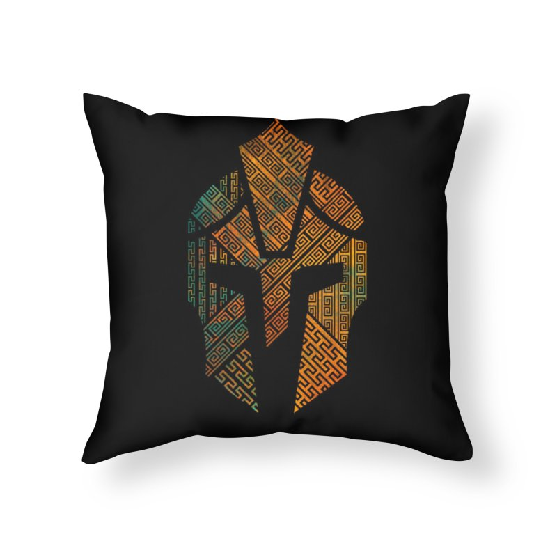 AGON Helmet Logo (Color) LAIR Throw Pillow by One Seven Design
