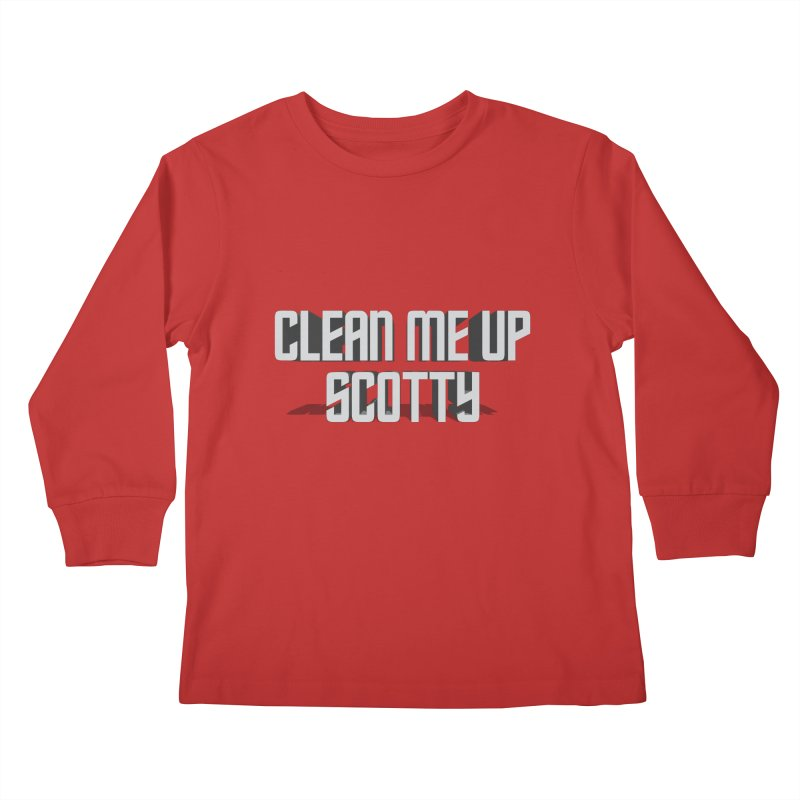 Clean me up Scotty! Kids Longsleeve T-Shirt by Happy Thursdays - A Onesie Project by Ceylan S. Ek