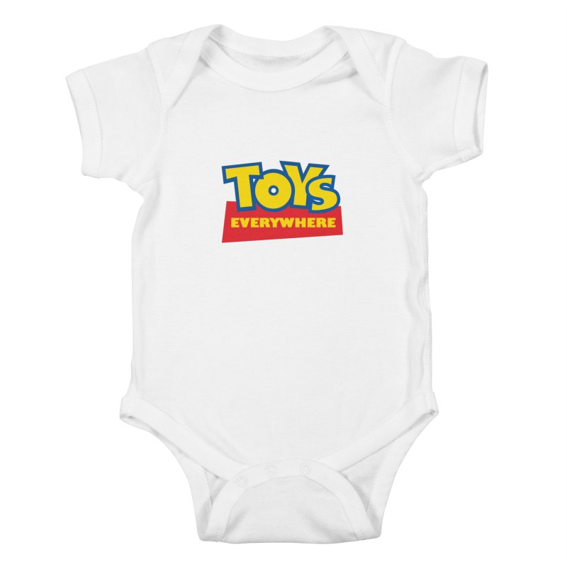 TOYS EVERYWHERE Kids Baby Bodysuit by Happy Thursdays - A Onesie Project by Ceylan S. Ek